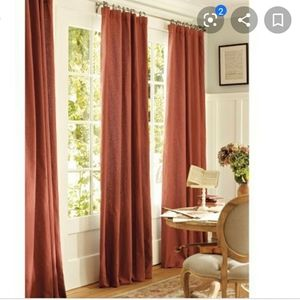 Pottery Barn Peyton Red drapes 50x96 (2 panels)